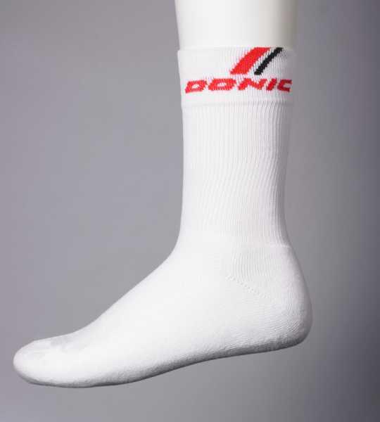 DONIC Socke Vesuvio weiß-rot