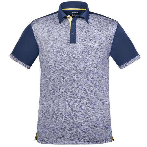 DONIC Poloshirt Melange Pro blau-grau