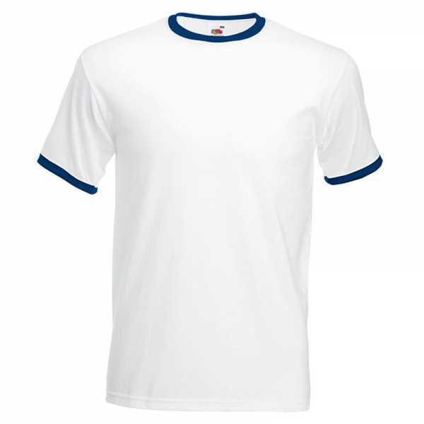 T-Shirt Round weiß-blau