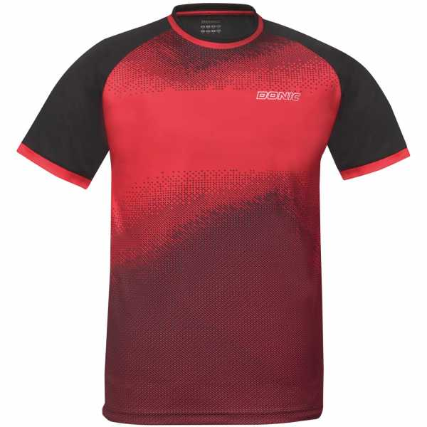 DONIC T-Shirt Agile rot-schwarz